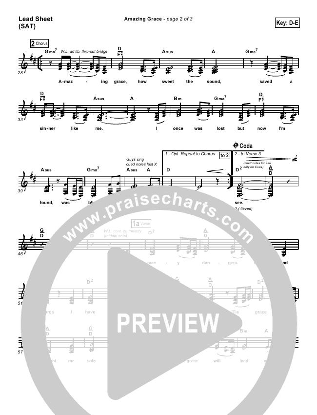 Amazing Grace Lead & Piano/Vocal (PraiseCharts Band)
