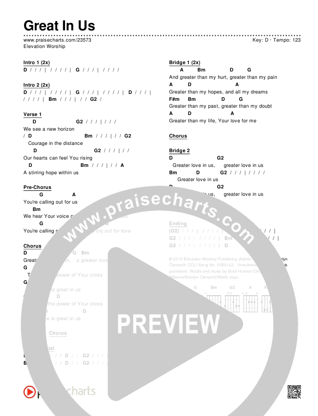 Great In Us Chords & Lyrics (Elevation Worship)