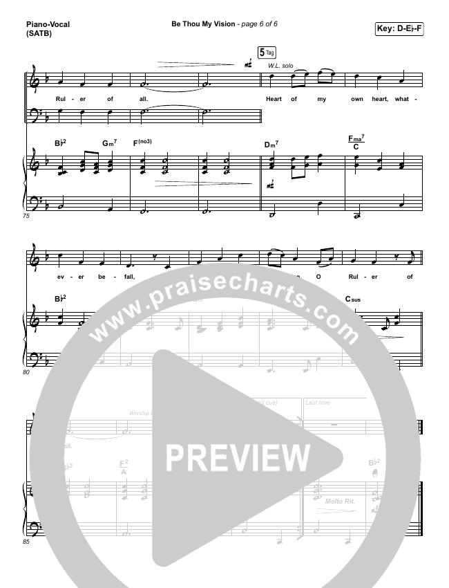 Be Thou My Vision Orchestration Praisecharts Band Praisecharts
