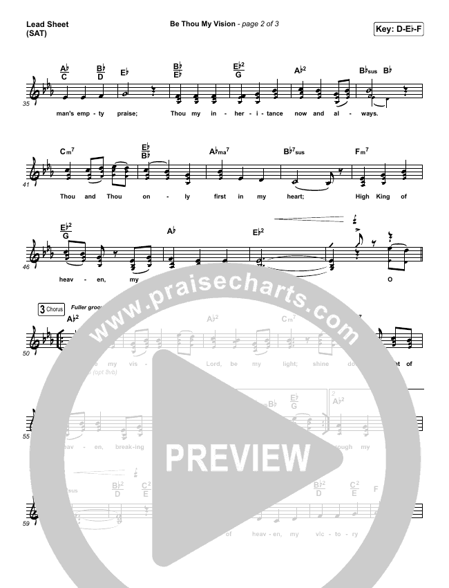 Be Thou My Vision Lead & Piano/Vocal (PraiseCharts Band)