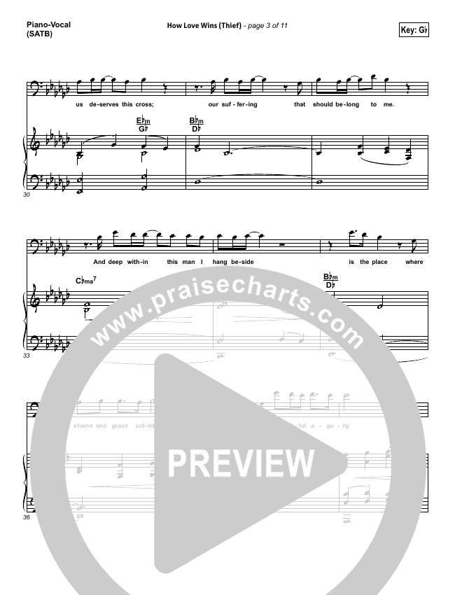 How Love Wins (Thief)  Piano/Vocal (SATB) (Steven Curtis Chapman)