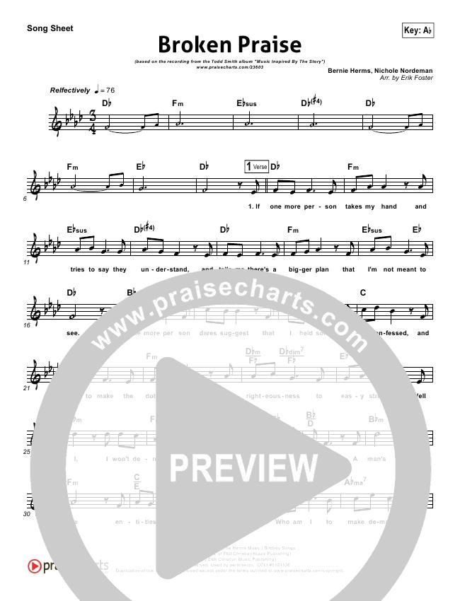 Broken Praise (Job) Lead (SAT) (Todd Smith)