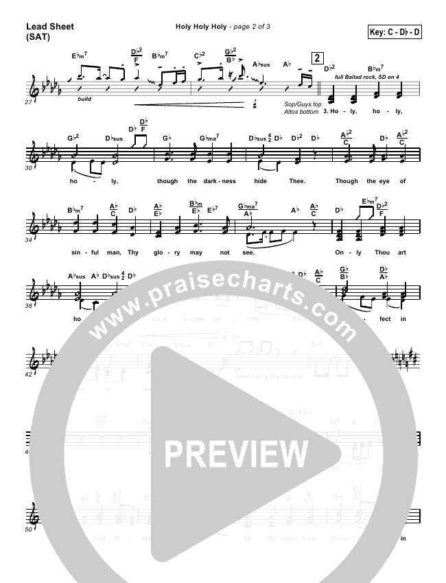 Holy Holy Holy Orchestration (with Vocals) (PraiseCharts Band / Arr. John Wasson)