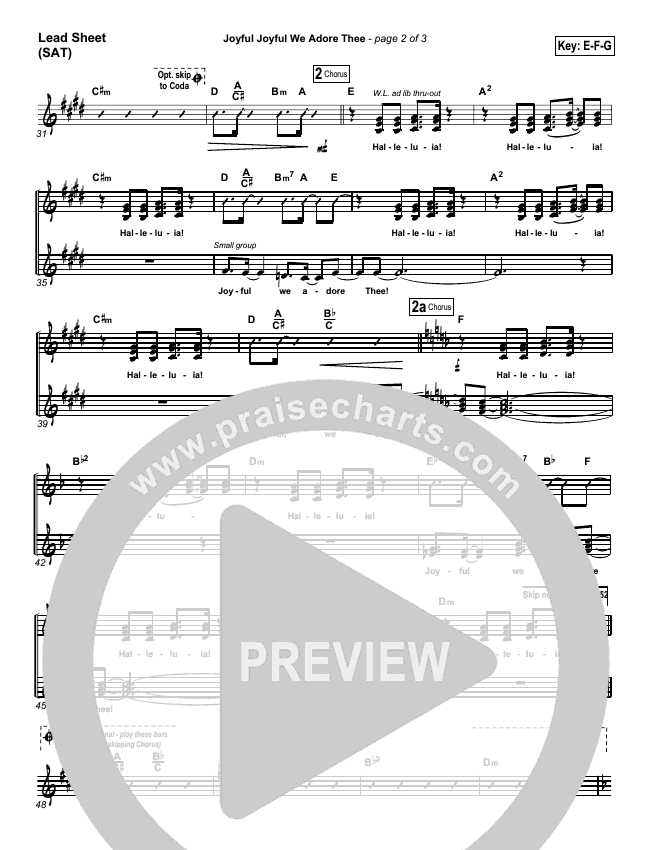Joyful Joyful We Adore Thee Orchestration (with Vocals) (PraiseCharts Band / Arr. Dan Galbraith)