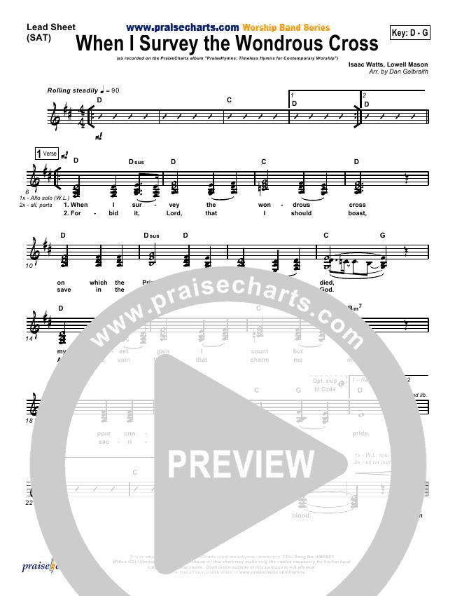 When I Survey The Wondrous Cross Orchestration & Finale (PraiseCharts Band / Kari Jobe)