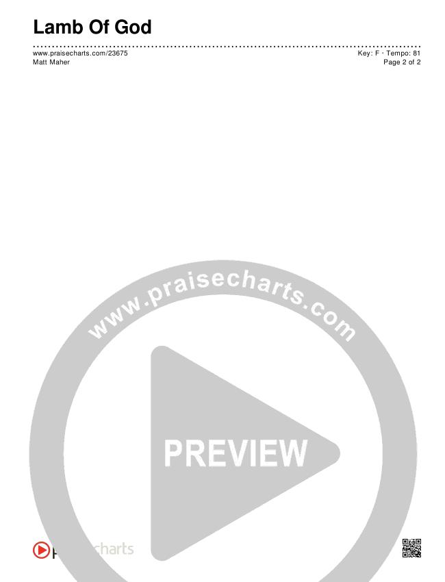 Lamb Of God Chords & Lyrics (Matt Maher)
