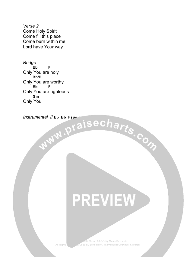 Show Us Your Glory Chord Chart (Bridgecity)