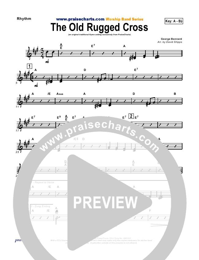 The Old Rugged Cross Rhythm Chart (Traditional Hymn / PraiseCharts)