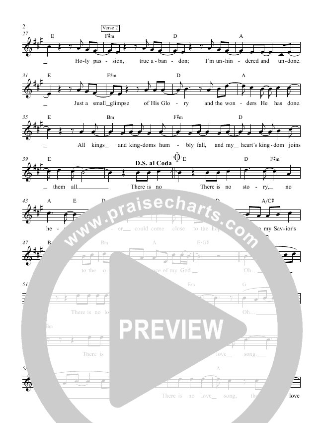 No Love Song Lead Sheet (Andy Needham Band)
