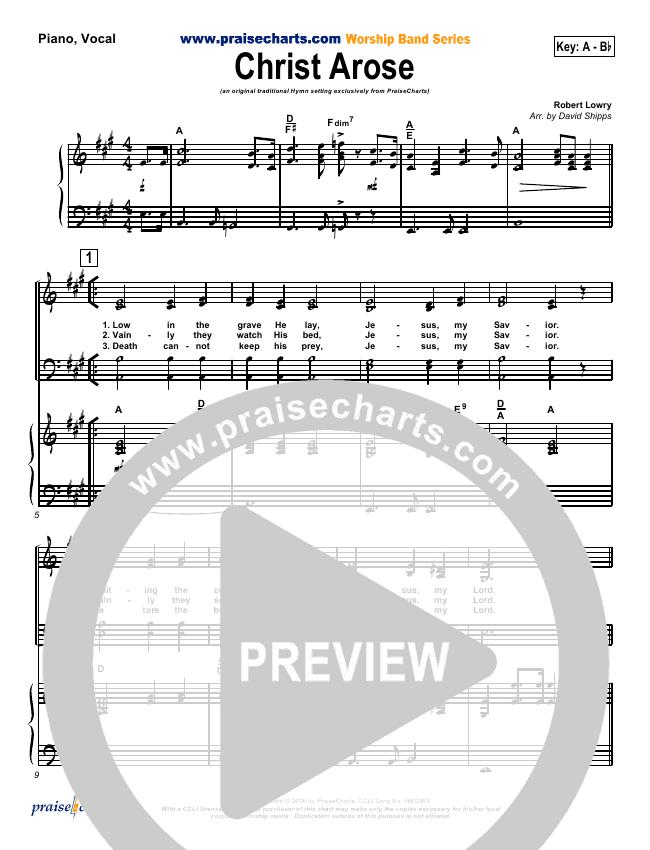 Christ Arose Orchestration (PraiseCharts / Traditional Hymn)