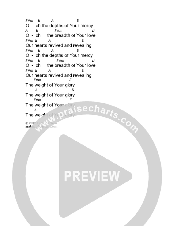 Weight Of Glory Chord Chart (Andy Needham Band)