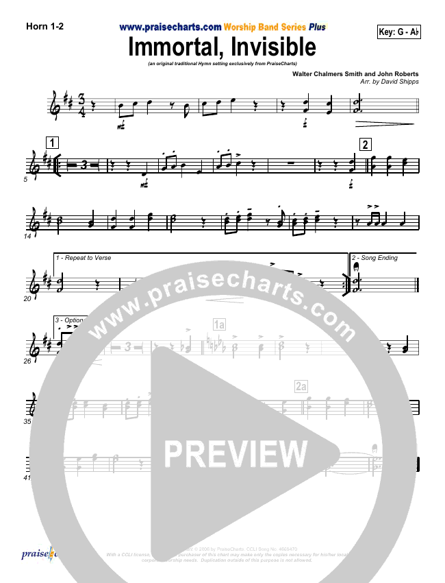 Immortal Invisible Brass Pack (Traditional Hymn / PraiseCharts)