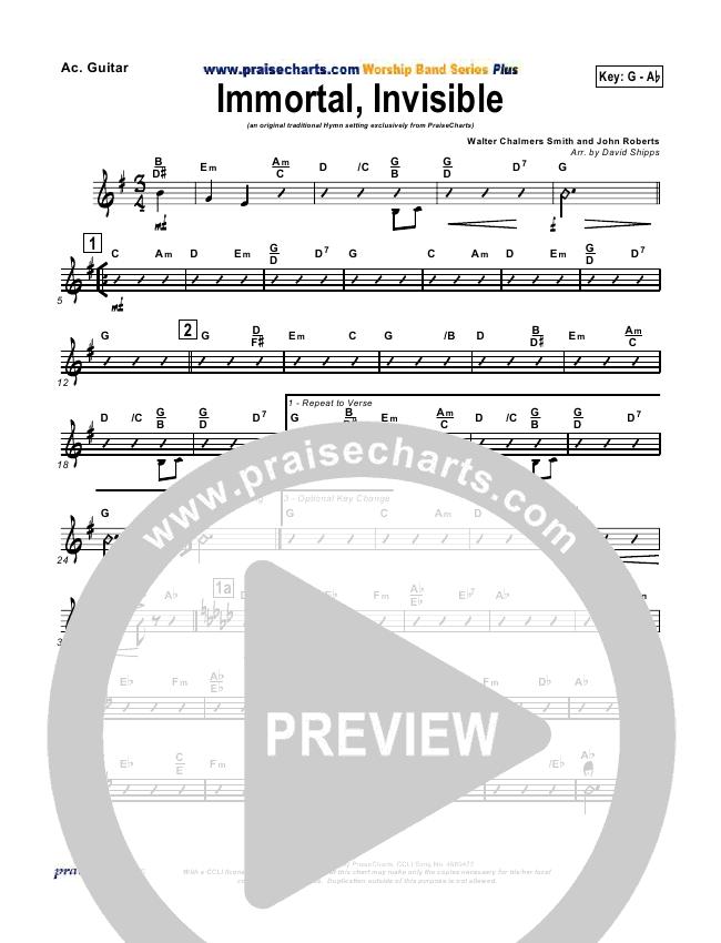 Immortal Invisible Rhythm Chart (Traditional Hymn / PraiseCharts)