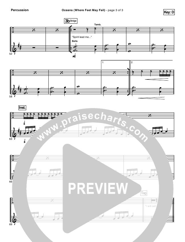 Oceans Sheet Music Ibovnathandedecker