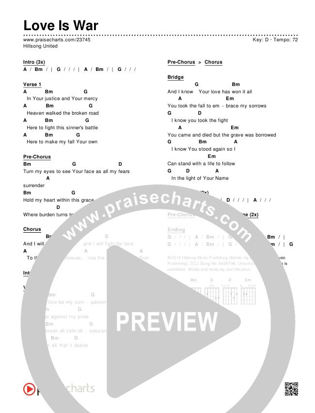 Love Is War Chords & Lyrics (Hillsong UNITED)