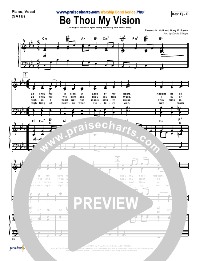 Be Thou My Vision Orchestration (PraiseCharts / Traditional Hymn)