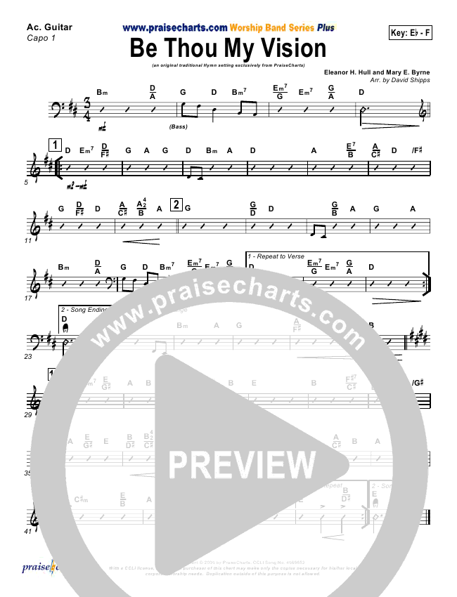 Be Thou My Vision Orchestration - David Shipps   PraiseCharts