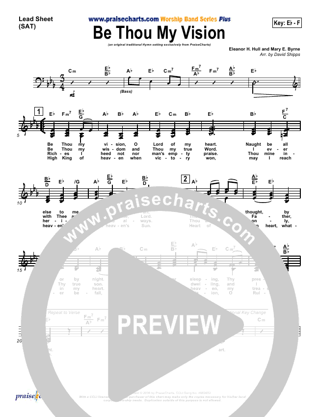 Be Thou My Vision Lead & Piano/Vocal (PraiseCharts / Traditional Hymn)