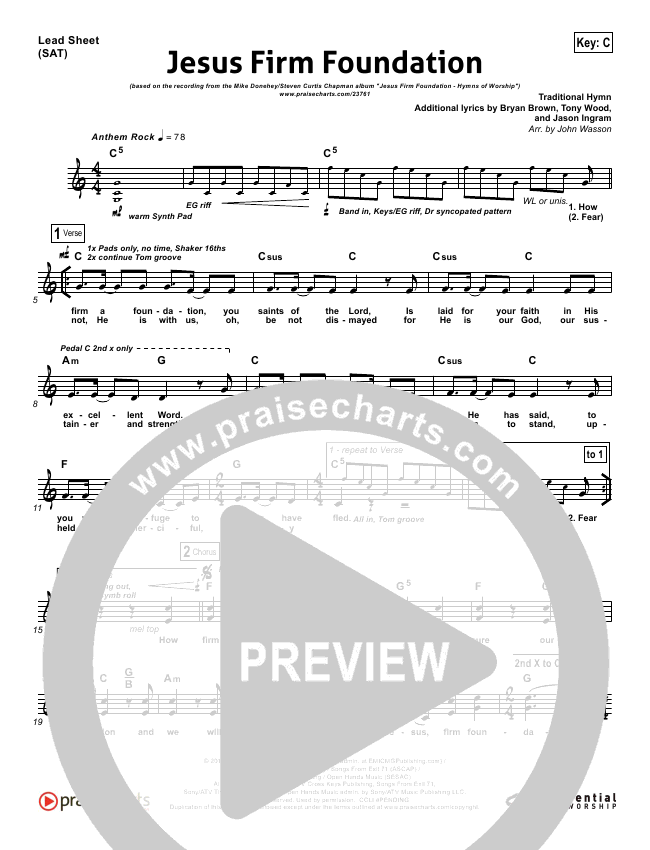Jesus Firm Foundation Orchestration (with Vocals) (Mike Donehey / Steven Curtis Chapman)