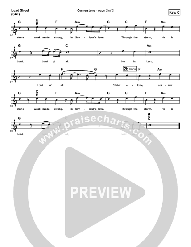 Cornerstone Lead (SAT) (Hillsong Worship)
