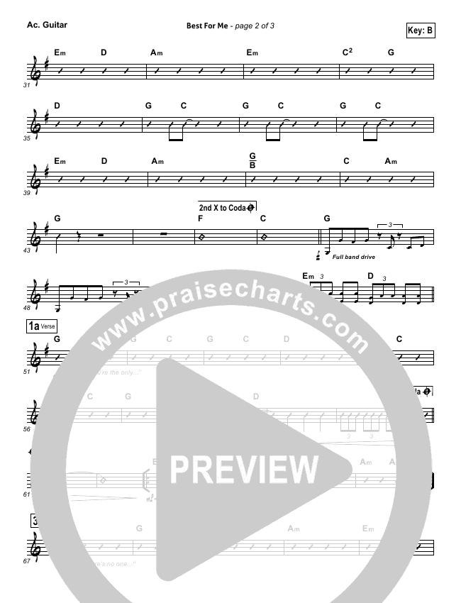 Best For Me Rhythm Chart (Darlene Zschech)