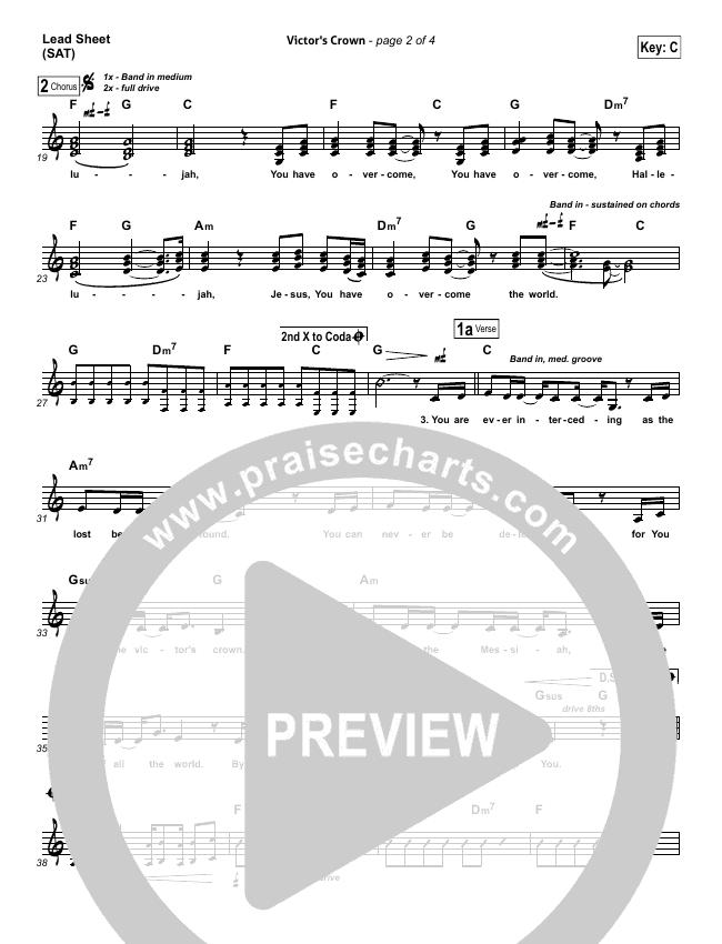 Victor's Crown Lead Sheet (SAT) (Darlene Zschech)