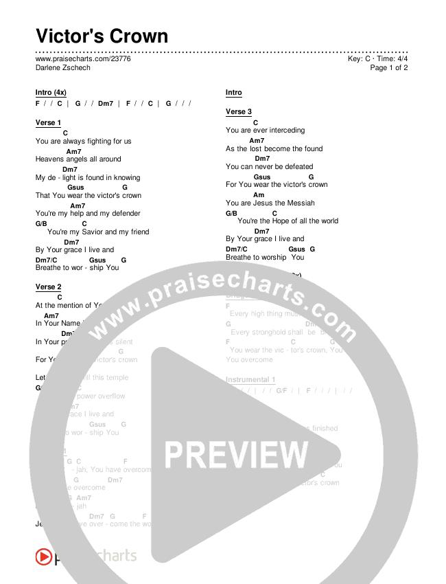 Victor's Crown Chords & Lyrics (Darlene Zschech)