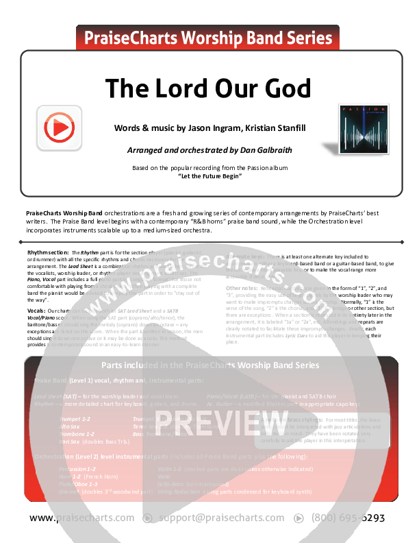 The Lord Our God Orchestration (Kristian Stanfill / Passion)