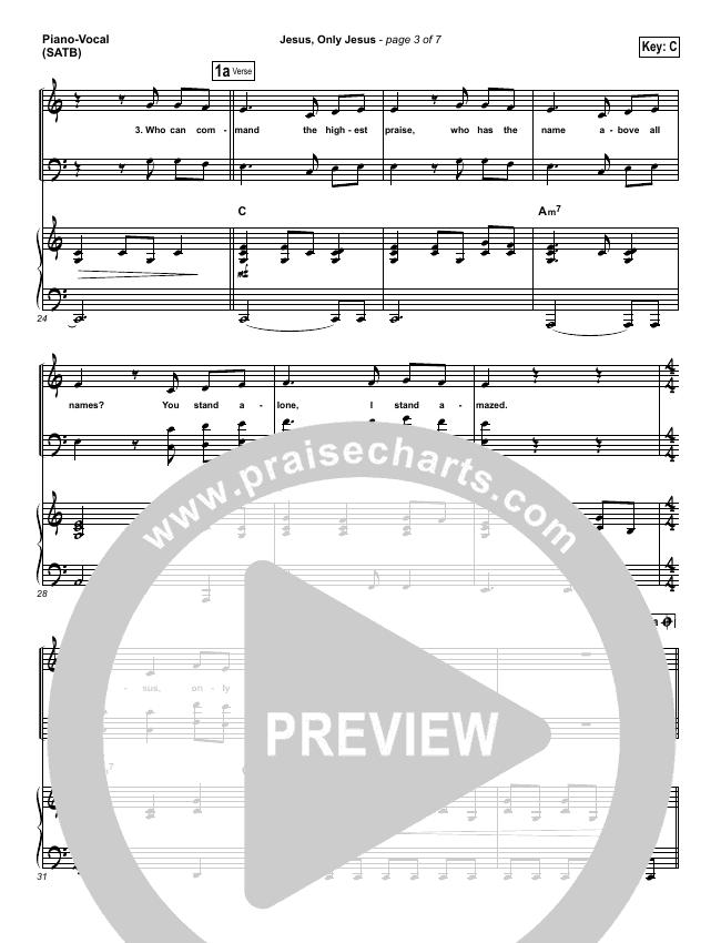 Jesus Only Jesus Piano/Vocal (SATB) (Matt Redman / Passion)