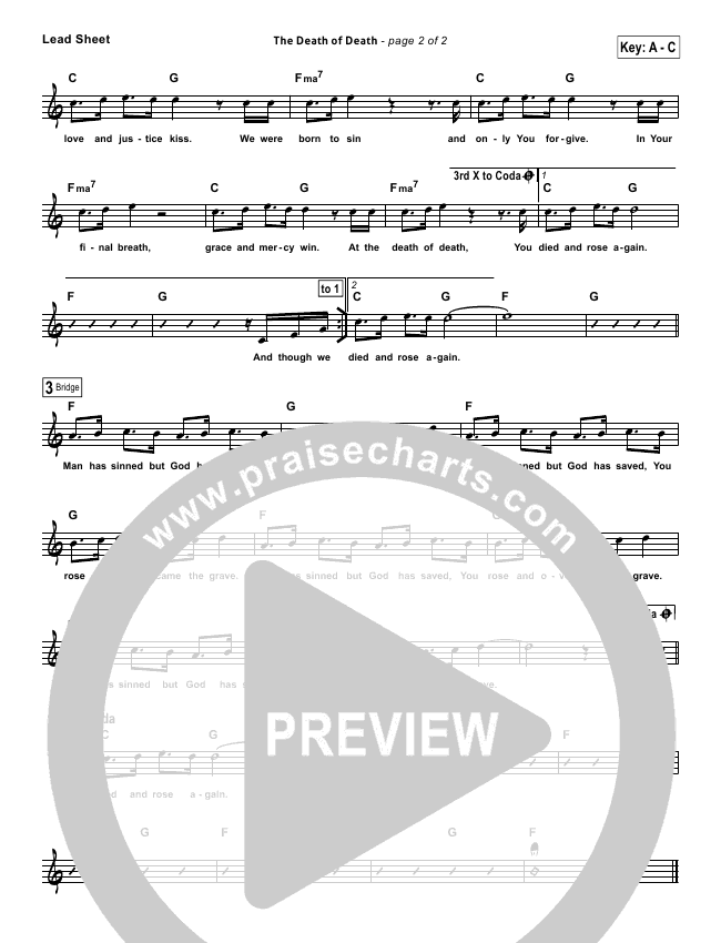 The Death Of Death Lead Sheet (Charlie Hall / Passion)