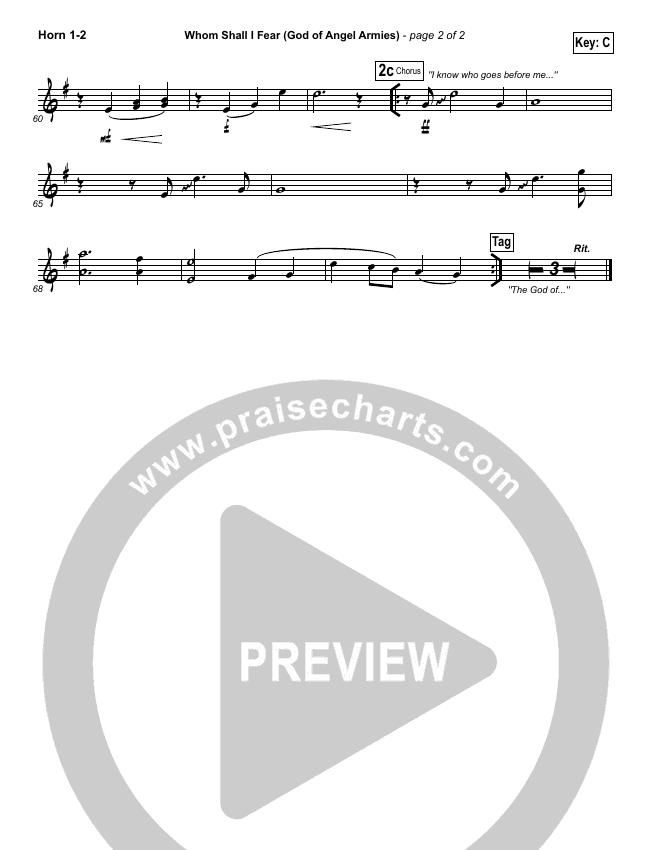 Whom Shall I Fear (God Of Angel Armies) Brass Pack (Chris Tomlin / Passion)