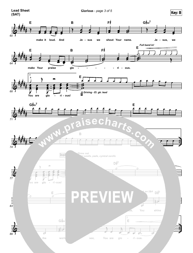 Glorious Piano/Vocal Pack (BJ Putnam)