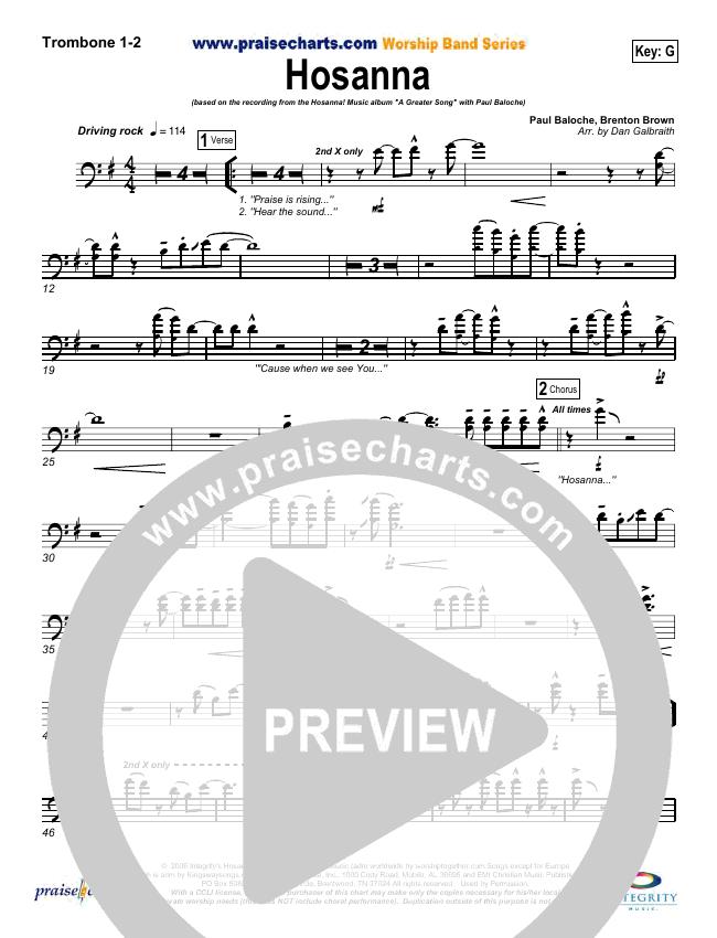 Hosanna (Praise Is Rising) Brass Pack (Paul Baloche)