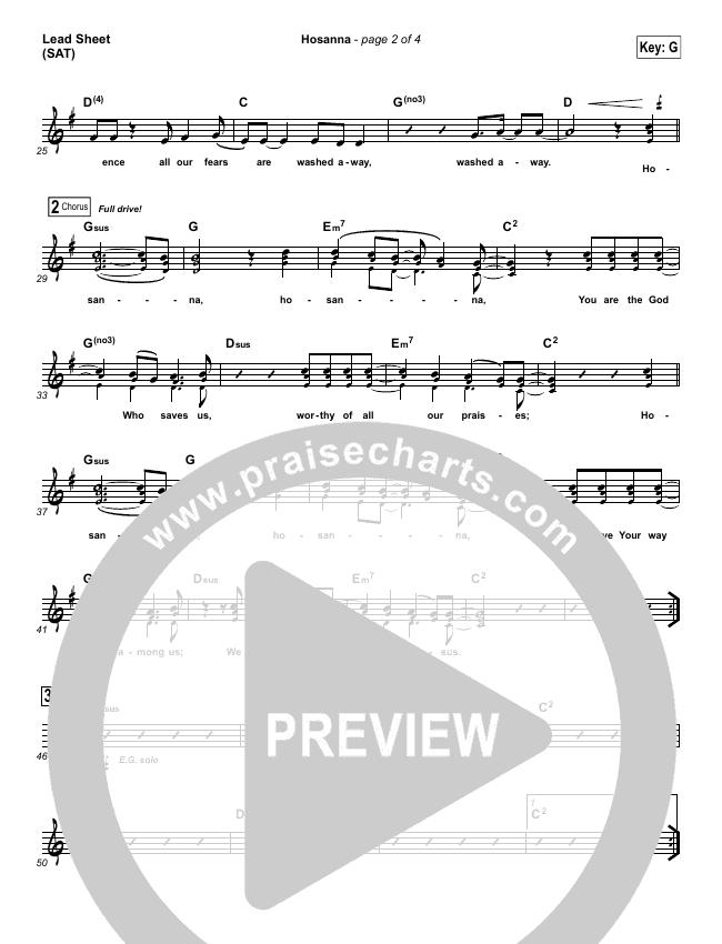 Hosanna (Praise Is Rising) Lead & Piano/Vocal (Paul Baloche)