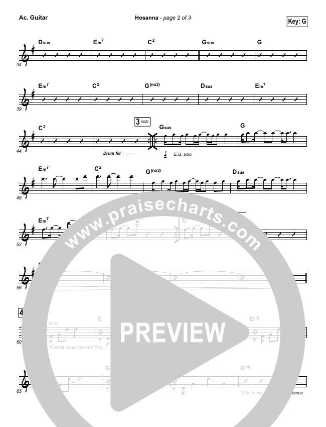 Hosanna (Praise Is Rising) Rhythm Chart (Paul Baloche)