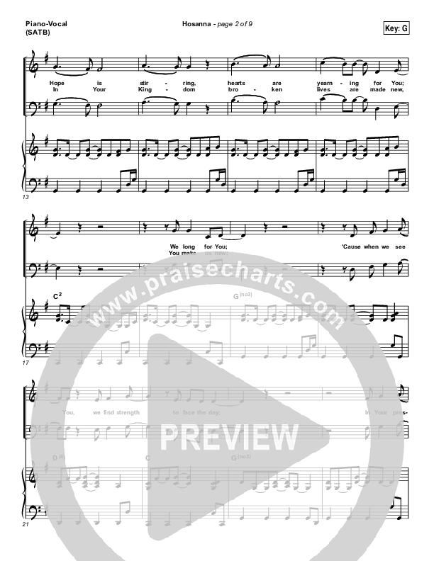 Hosanna (Praise Is Rising) Piano/Vocal (SATB) (Paul Baloche)