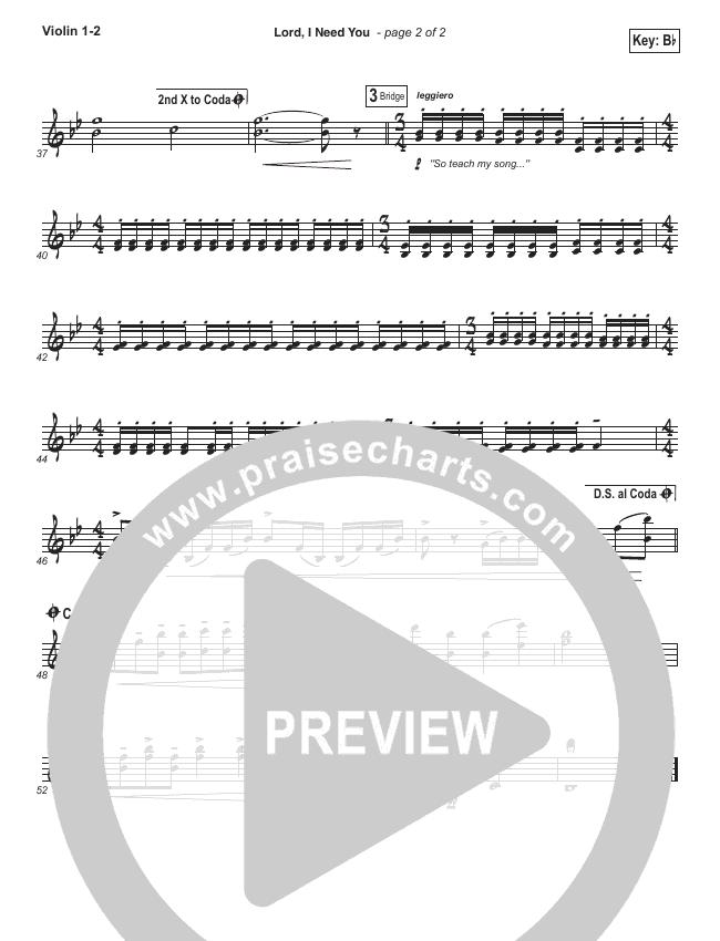 Lord I Need You Orchestration Matt Maher Praisecharts