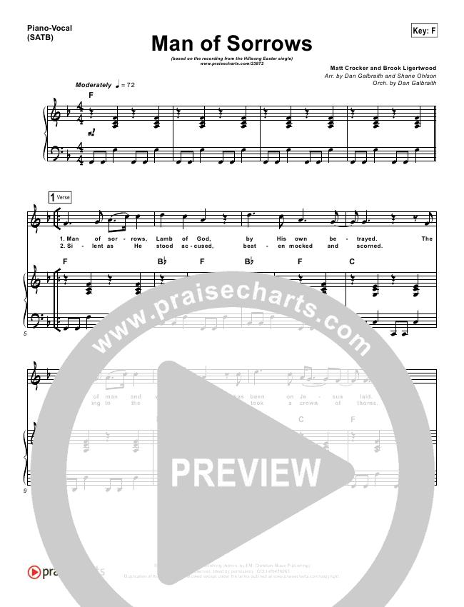 Man Of Sorrows Orchestration - Hillsong Worship | PraiseCharts