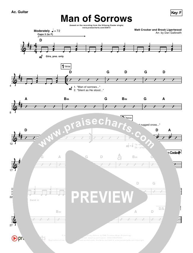 Man Of Sorrows Orchestration Hillsong Worship Praisecharts
