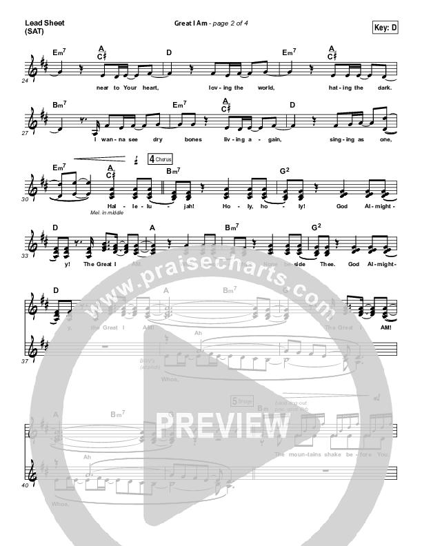 Great I Am Lead & Piano/Vocal (Phillips Craig & Dean)