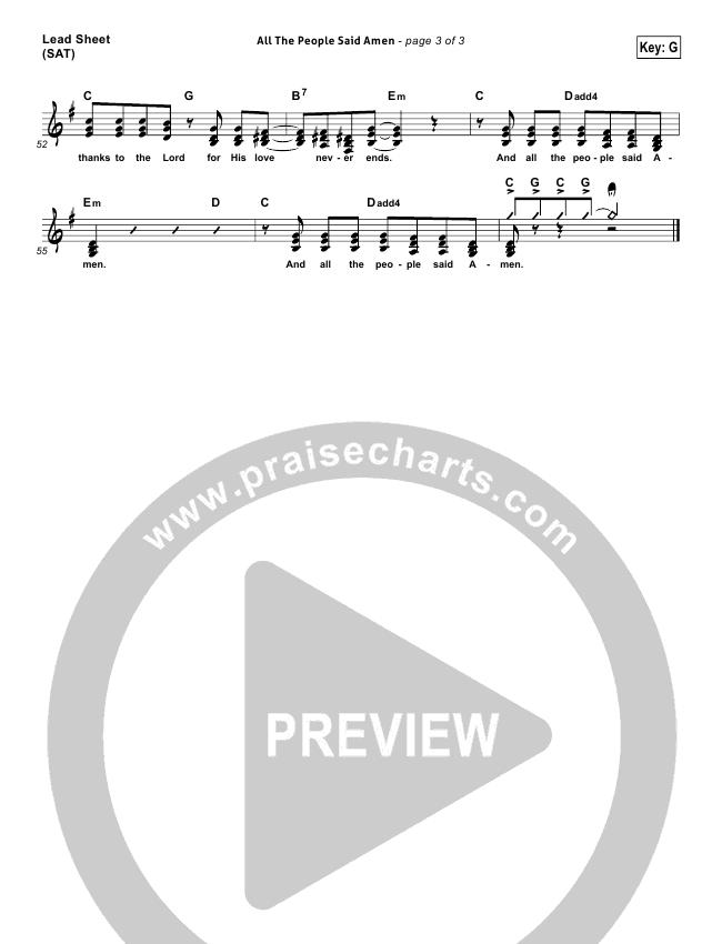 All The People Said Amen Lead & Piano/Vocal (Matt Maher)