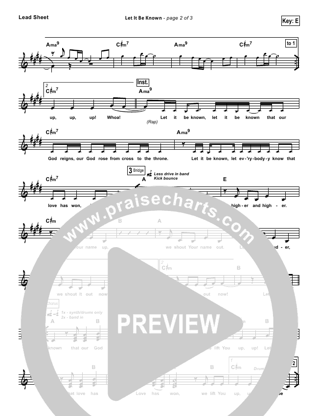Let It Be Known Orchestration (with Vocals) (Tim Hughes / Worship Central)