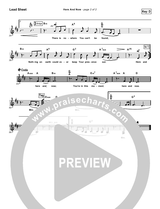 Here And Now Lead & Piano/Vocal (Kathryn Scott)
