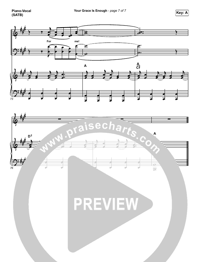 Your Grace Is Enough Piano Sheet Music Pdf - Piano Ideas