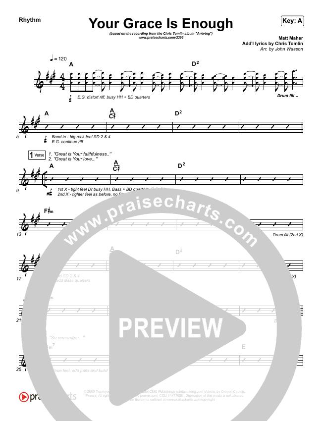 Your Grace Is Enough Orchestration Chris Tomlin Praisecharts