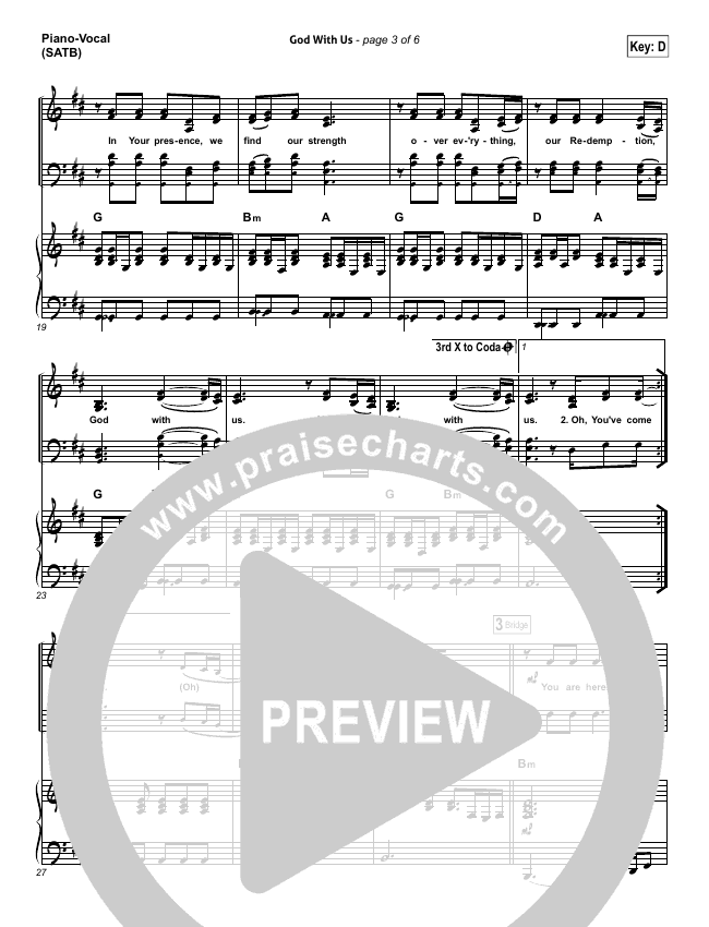 God With Us Piano/Vocal (SATB) (All Sons & Daughters)