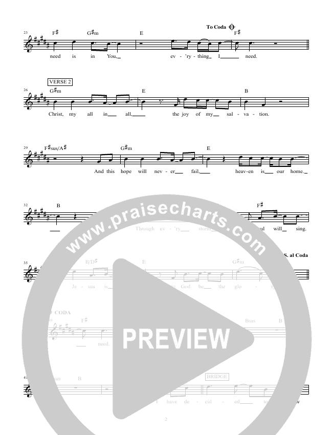 Christ Is Enough Piano Sheet (Hillsong Worship)