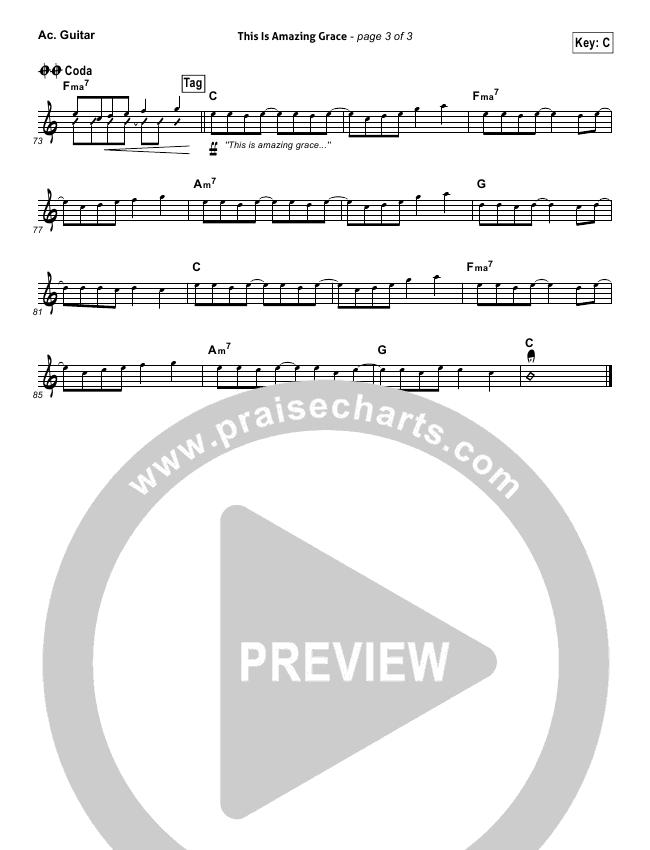This Is Amazing Grace Rhythm Chart (Bethel Music)