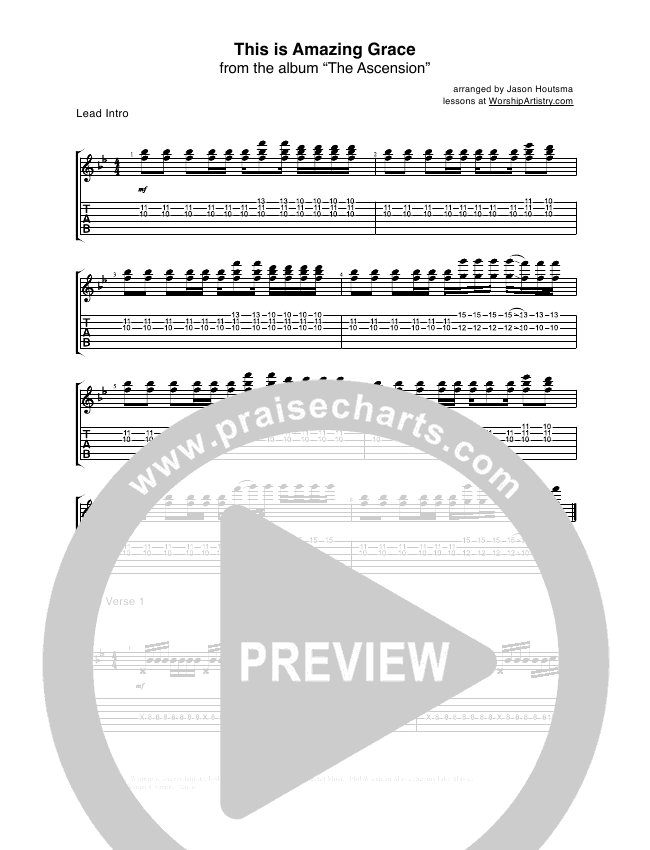 This Is Amazing Grace Guitar Tab (Bethel Music)
