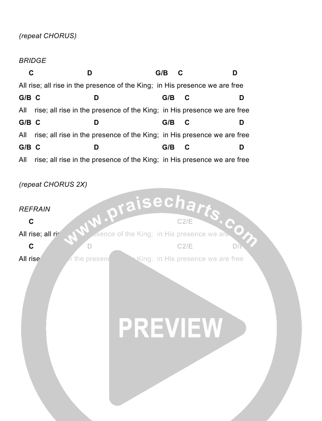 Christ Is Here Chord Chart (Todd Fields / North Point Worship)